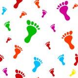 Картина следа ноги Стоковая Фотография