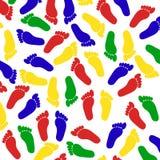 Картина следов ноги Стоковое Изображение