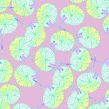 Картина с желтыми листьями на розовой предпосылке иллюстрация штока