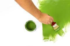 Картина с зеленой краской Стоковые Изображения