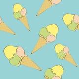 Картина с изображением мороженого Стоковые Фотографии RF