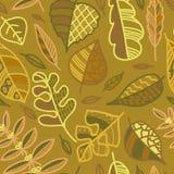 Картина с листьями осени Стоковые Изображения