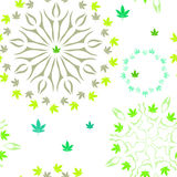 Картина с красочными листьями марихуаны Стоковое Фото