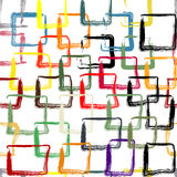 Картина с красочными покрашенными квадратами Стоковое Фото