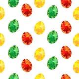 картина с красочными покрашенными яйцами, праздники пасхи безшовная в бесплатная иллюстрация