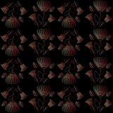 Картина с маками красного цвета цветков Стоковые Фото