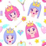 Картина с милыми принцессами иллюстрация штока