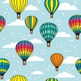 Картина с облаками и воздушными шарами Стоковые Фото