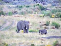Картина слона Стоковые Фото