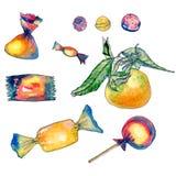 Картина с помадками и confection Стоковое Фото