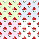 Картина с пластинчатым грибом мухы Стоковая Фотография