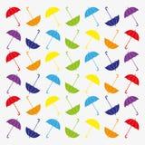 Картина с плоскими зонтиками бесплатная иллюстрация
