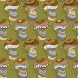 Картина с различными грибами Стоковая Фотография