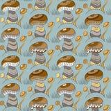 Картина с различными грибами Стоковое Изображение RF