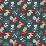 Картина с различными грибами Стоковые Изображения RF