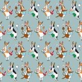 Картина с различными коровами Стоковые Фото