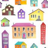 Картина с различными домами Стоковые Изображения RF
