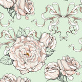 Картина с розами и лентами, wedding темой Стоковые Изображения