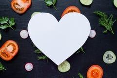 Картина с свежими овощами Стоковые Изображения