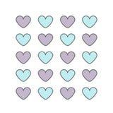 Картина с сердцами пастельного цвета Стоковые Фото