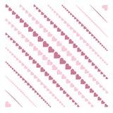 Картина с сердцами Стоковые Изображения