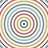 Картина с симметричным геометрическим орнаментом Квадраты и предпосылка косоугольников повторенные конспектом яркие этнические об Стоковые Изображения RF
