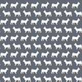 Картина с силуэтами собаки Стоковые Фото