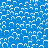 Картина случайных пузырей безшовная - оконтурите tex кругов repeatable иллюстрация вектора