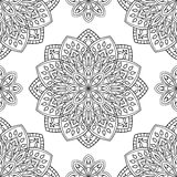 Картина с флористическими мандалами Стоковые Фото