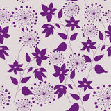 Картина с цветками и травами иллюстрация штока