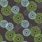 Картина с штемпелями и текстурой кругов Стоковое Изображение