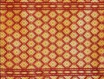 Картина тайской silk ткани Стоковые Фото