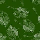 Картина танка безшовная 23-ье февраля Стоковые Изображения