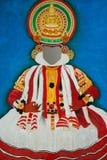 Картина танца Kathakali индийская Стоковое фото RF