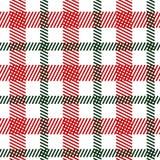 Картина тартана зеленая красная безшовная иллюстрация штока
