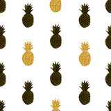 Картина творческих ананасов безшовная Стоковое Фото
