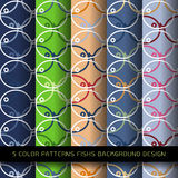 Картина творческих рыб цвета конспекта 5 безшовная Стоковые Фотографии RF