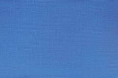 Картина текстуры естественной яркой голубой обложки книги Linen ткани волокна Binding, большой детальный крупный план макроса, те Стоковая Фотография RF