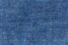 Картина текстуры крупного плана голубого демикотона Стоковая Фотография
