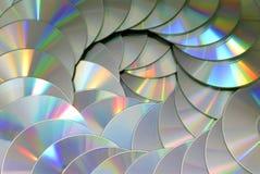 Картина текстуры предпосылки технологии кучи диска КОМПАКТНОГО ДИСКА DVD Стоковые Изображения