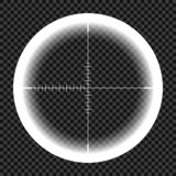 Картина телескопа, взгляд ночи с метками измерения на изолированной предпосылке Взгляд через прибор, ночь иллюстрация штока