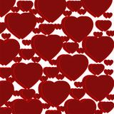 Картина темноты - красных сердец Стоковое Фото