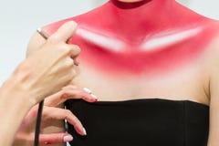 Картина тела airbrush Стоковые Фото