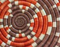 Картина ткани безграничности спиральная Handmade сплетенная стоковое изображение rf