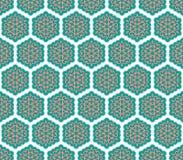 Картина ткани зеленого цвета и пинка флористическая Стоковое Изображение