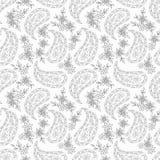 Картина ткани Пейсли флористическая. Стоковые Изображения