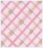Картина ткани розовой шотландки раскосная Стоковые Фотографии RF