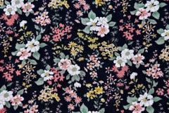 Картина ткани с предпосылкой цветков Стоковые Изображения