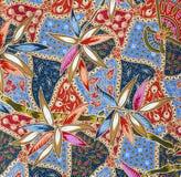 картина ткани тайская Стоковая Фотография