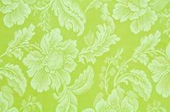 картина ткани флористическая зеленая Стоковая Фотография